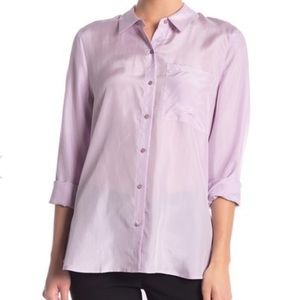 Eileen Fisher Classic Silk Button Down Shirt